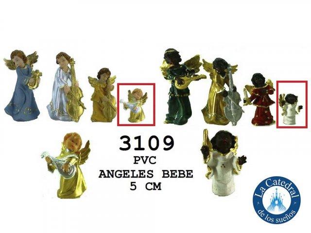 Producto #3109       ANGELES PVC 5 CM BEBE NEG/BCO