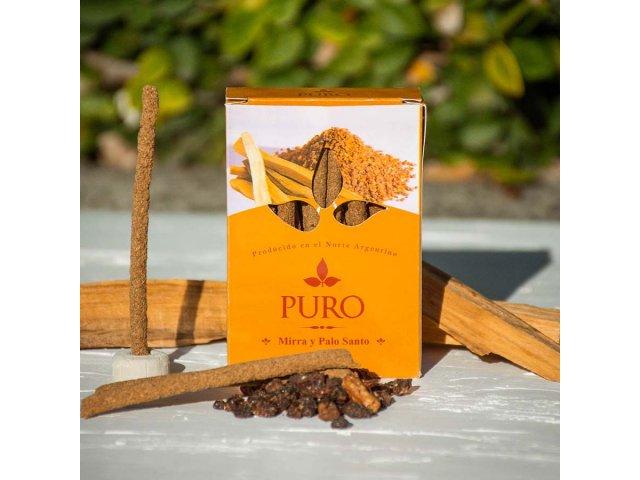 Producto #889C SAHUMERIO DHOOP PALO SANTO PURO CON MIRRA 20GR