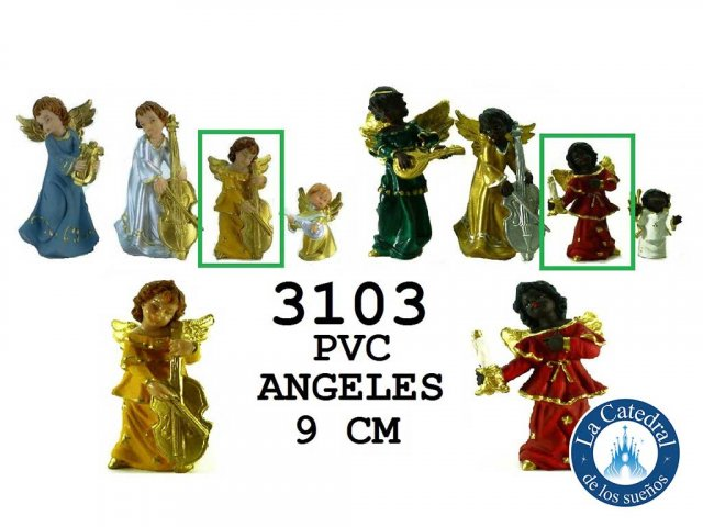 Producto #3103       ANGELES PVC 9 CM NEG/BCO