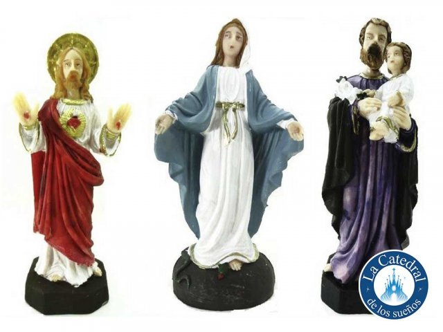 Producto #3127       PVC 15 CM MILAGROSA - JESUS - JOSE