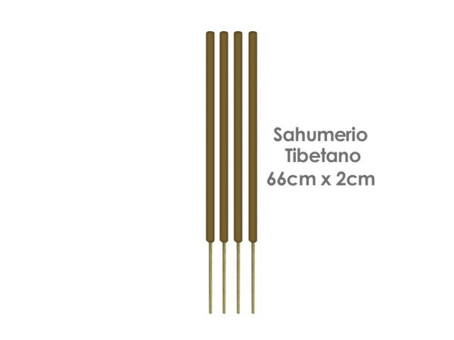 Producto #165G SAHUMERIO TIBETANO (66X2CM) X UNIDAD
