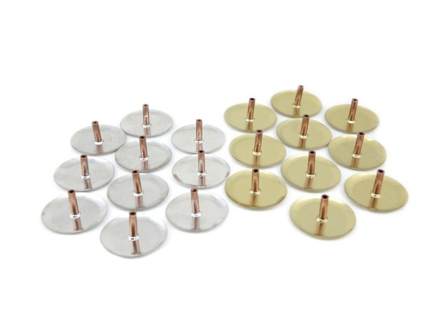 Producto #1217       PORTA SAH SUPER ECONO DIAM 6 CM PLATA/ORO X 10