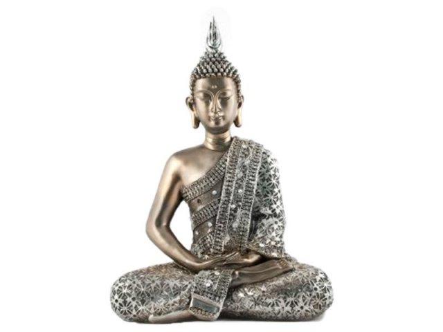 Producto #918D BUDA SIDDHARTHA PLATEADO 40CM