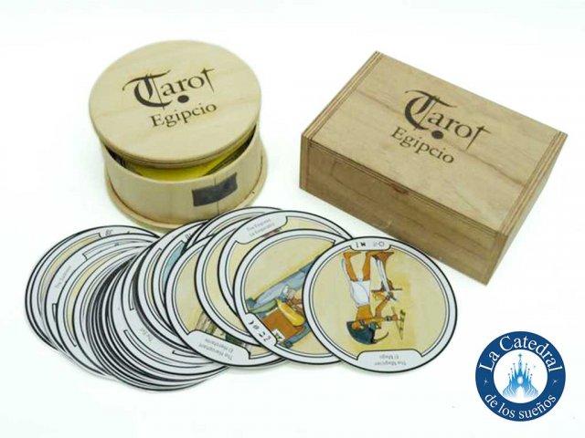 Producto #2039       TAROT EGIPCIO/MARSELLES CAJA MADERA