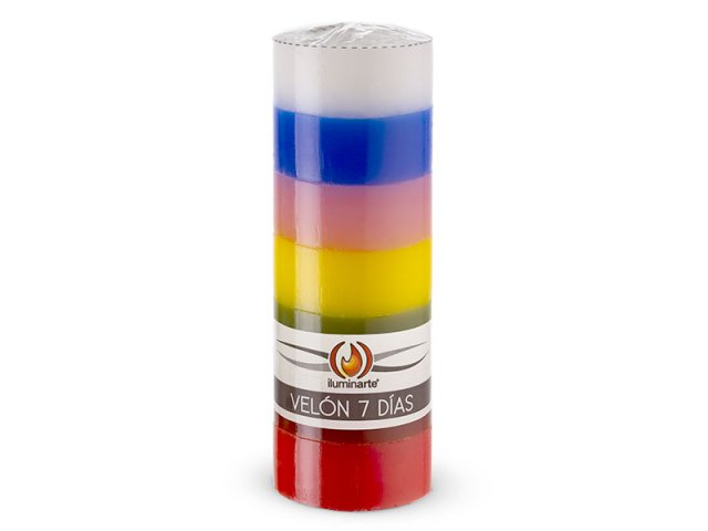 Producto #012B VELON 7 DIAS ILUMIN. 7 COL. 16X5,6 CM