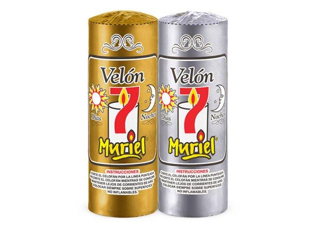 VELON 7 DIAS MURIEL ORO/PLATA 17X5,6 CM