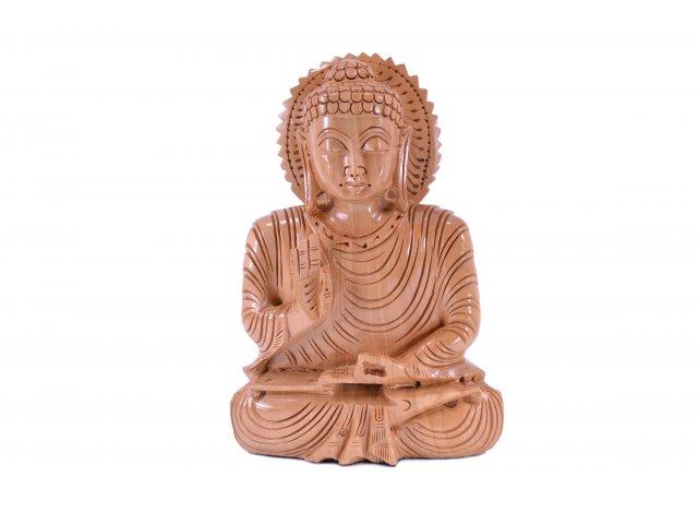 Producto #6013 BUDA TALLADO EN MADERA INDIA 16 CM