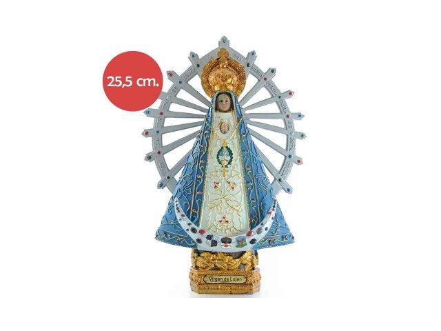 Producto #734M RESINA VIRGEN DE LUJAN 25,5 CM