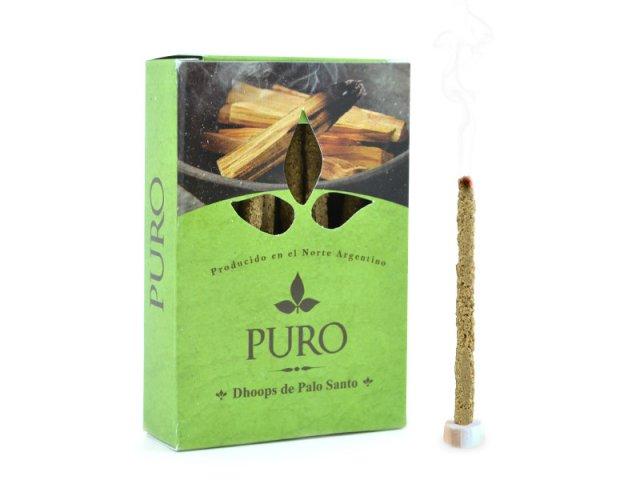 Producto #889        SAHUMERIO DHOOP PALO SANTO PURO EN CAJA 20 GR