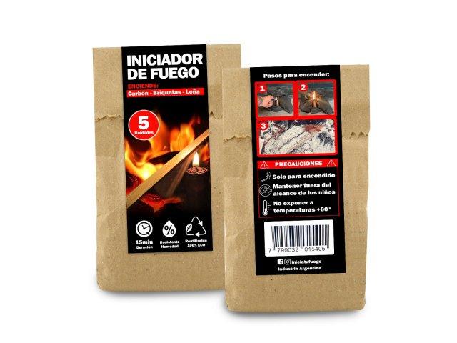 Producto #1504F      INICIADOR DE FUEGO SUPER X 5 UNIDADES