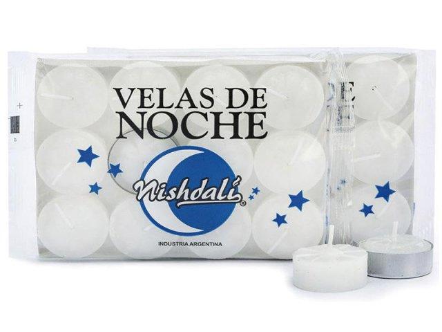 Producto #004N VELA DE NOCHE NISHDALI X 12