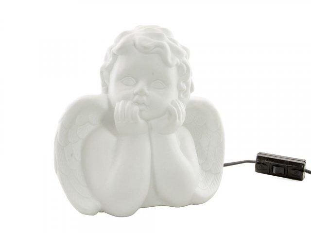 Producto #702F LAMPARA ANGELITO ESTILO PORCELANA 21 CM