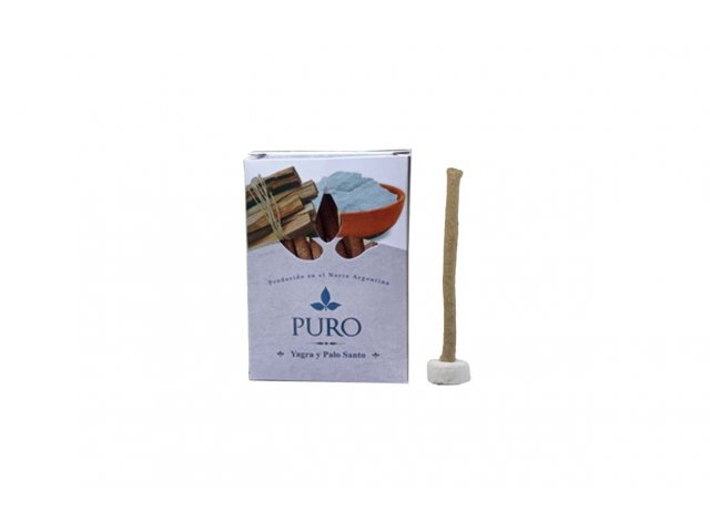 Producto #889B SAHUMERIO DHOOP PALO SANTO PURO CON YAGRA 20GR
