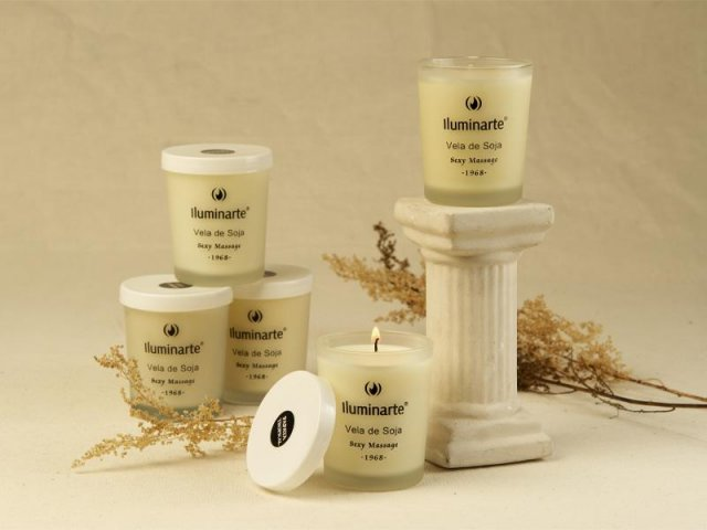 Producto #075 AROMATIC CANDLE (GLASS) SOJA  7X5.7CM