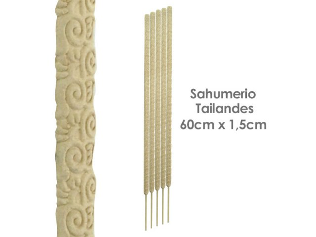Producto #165F SAHUMERIO TAILANDES  (60X1.5CM) X UNIDAD